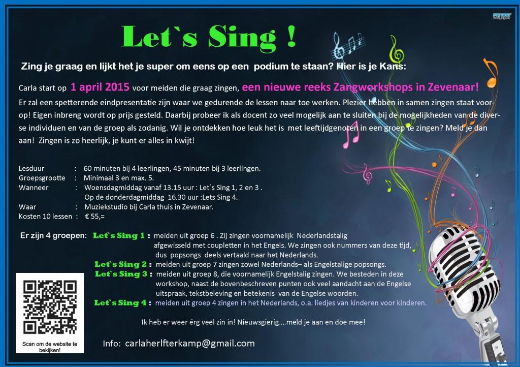 Flyer Let `s Sing   zangworkshop 1 april 2015 10 lessen